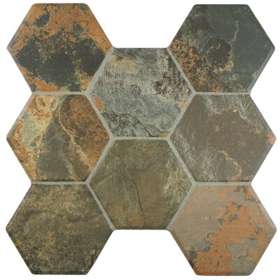 Terrene 15.25 x 16 Ceramic Field Tile in Magma