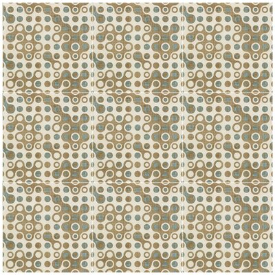 Illica 7.75 x 7.75 Ceramic Field Tile in Blue/Beige