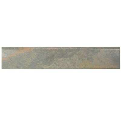 Ariana 17.5 x 3.13 Porcelain Bullnose Tile Trim in Gray