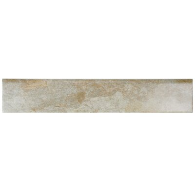 Ariana 17.5 x 3.13 Porcelain Bullnose Tile Trim in Ocre