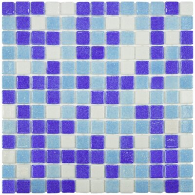 Colgadilla 0.88 x 0.88 Glass Mosaic Tile in Agua Espuma