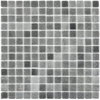 Colgadilla 0.88 x 0.88 Glass Mosaic Tile in Gray
