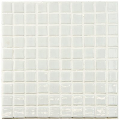 Colgadilla 0.88 x 0.88 Glass Mosaic Tile in White