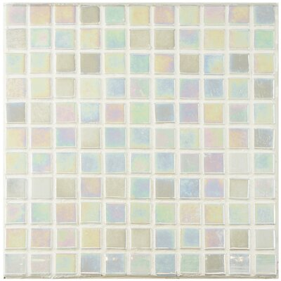 Colgadilla Square 0.88 x 0.88 Glass Mosaic Tile in Iridescent