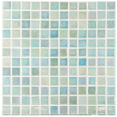 Colgadilla 0.88 x 0.88 Glass Mosaic Tile in Iridescent