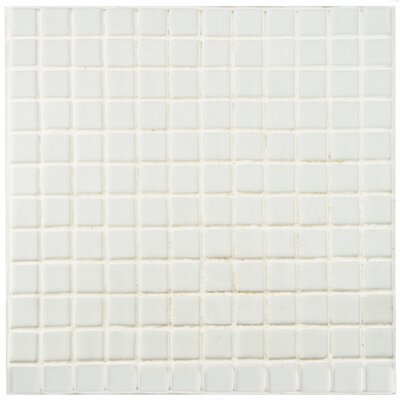 Colgadilla 0.88 x 0.88 Glass Mosaic Tile in Blanco