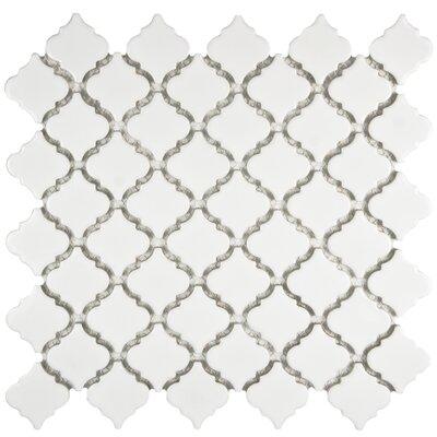 Pharsalia 2 x 2.25 Porcelain Mosaic Tile in Glossy White
