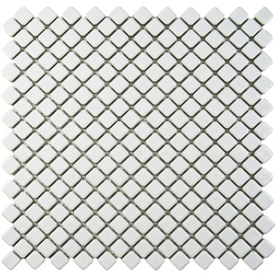 Gem 0.71 x 0.71 Porcelain Mosaic Tile in Glossy White