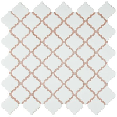 Pharsalia 2 x 2.25 Porcelain Mosaic Tile in Matte White
