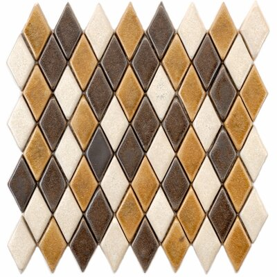 Heritage 1.25 x 2.25 Ceramic Mosaic Tile in Brown/Gold
