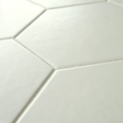 Hexitile 7 x 8 Porcelain Mosaic Tile in Matte White