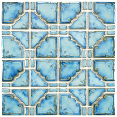 Moonlight 2.85 x 2.85 Porcelain Mosaic Tile in Diva Blue