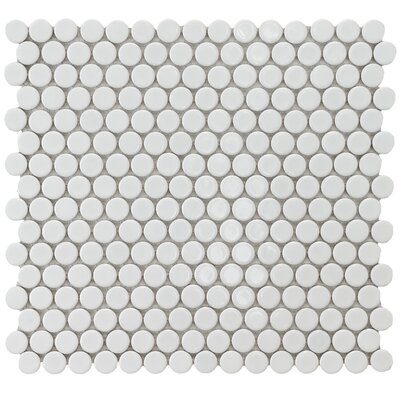 Penny 0.8 x 0.8 Porcelain Mosaic Tile in White