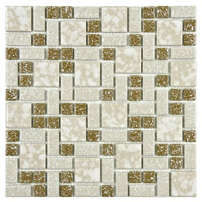 Academy Random Sized Porcelain Mosaic Tile in Beige
