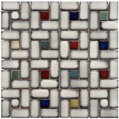 Essentia 12 x 12 Porcelain Mosaic Tile in Glazed Cascade