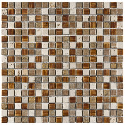 Isle 0.63 x 0.63 Porcelain Mosaic Tile in Brown/White