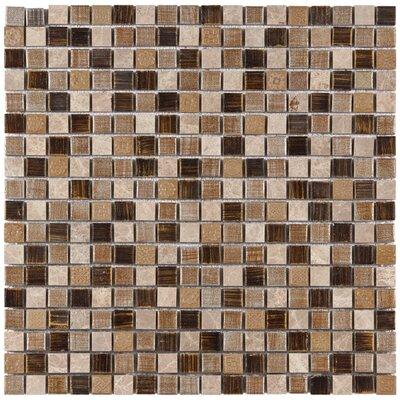 Isle 0.63 x 0.63 Porcelain Mosaic Tile in Brown/Cream