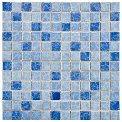 Pool 1 x 1 Porcelain Mosaic Tile in Aegean
