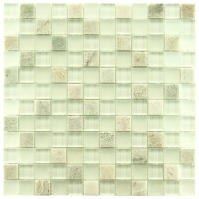 Sierra 0.88 x 0.88 Glass and Natural Stone Mosaic Tile in Ming