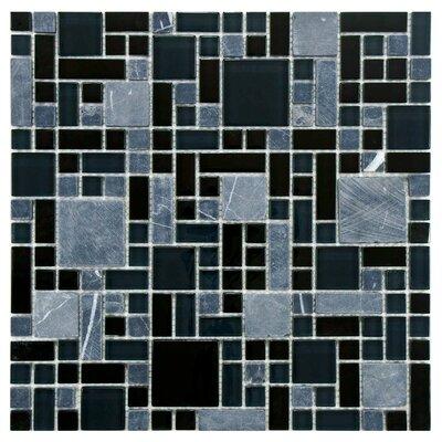 Sierra Random Sized Glass/Stone Mosaic Tile in Versailles Bizancio