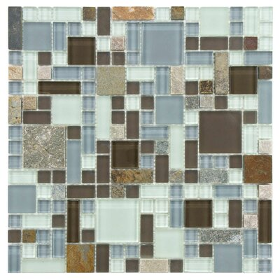 Sierra Random Sized Glass/Stone Mosaic Tile in Versailles Tundra