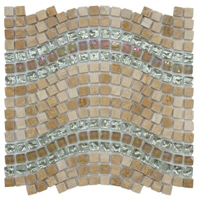 Sierra 0.563 x 0.563 Glass/Stone/Metal Mosaic Tile in Polished Beige