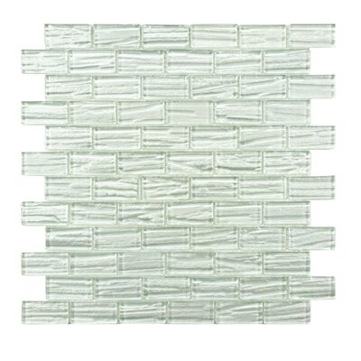 1 x 2 Glass Mosaic Tile in White