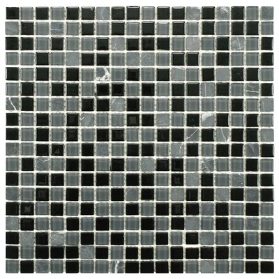 Ambit 1 x 1 Glass/Natural Stone Mosaic Tile in Citadel