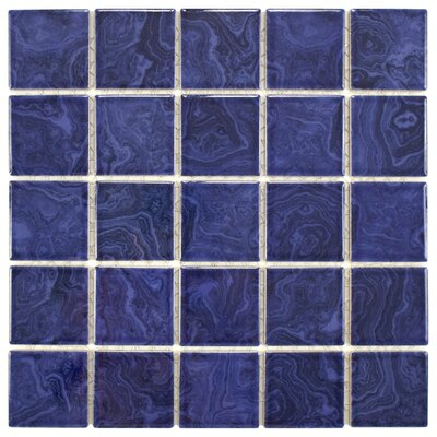 Utopia 2 x 2 Porcelain Mosaic Tile in Glazed Blue