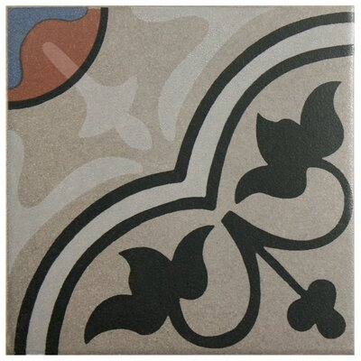 Cementa 7 x 7 Ceramic Tile in Beige/Charcoal