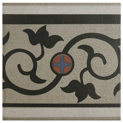 Cementa 7 x 7 Ceramic Glazed Decorative Murals Tile in And Cenefa