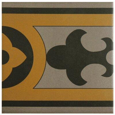 Cementa 7 x 7 Ceramic Glazed Decorative Murals Tile in Cla Cenefa