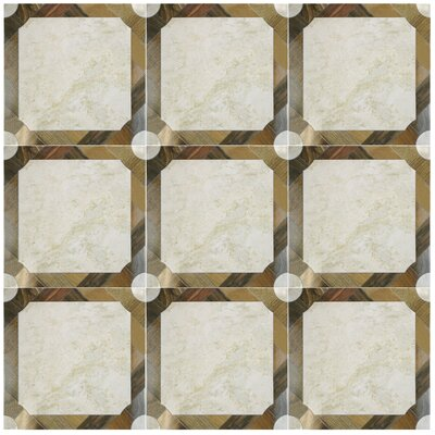 Nicolaus 17.75 x 17.75 Ceramic Mosaic Tile in Brown