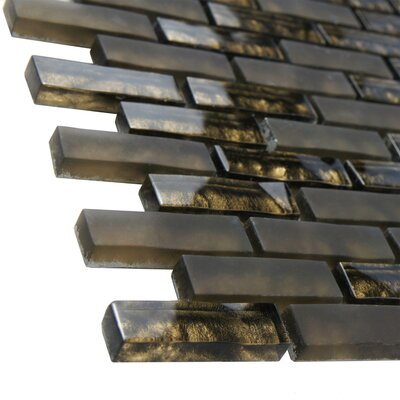 Sierra 0.58 x 1.88 Glass Mosaic Tile in Brown
