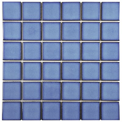 Pool 2 x 2 Porcelain Mosaic Tile in Cerulean