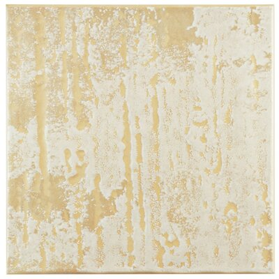 Romana 7.75 x 7.75 Ceramic Field Tile in Beige