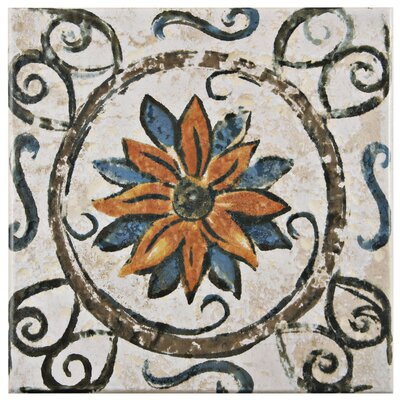 Romana 7.75 x 7.75 Ceramic Field Tile in Brown