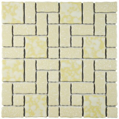 Pallas 11.75 W x 11.75 L Porcelain Tile in Gold/White
