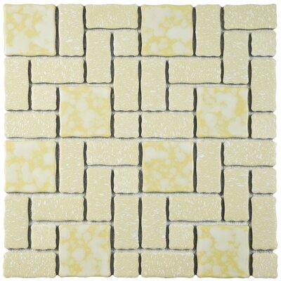 Pallas Random Sized Porcelain Mosaic Tile in Gold