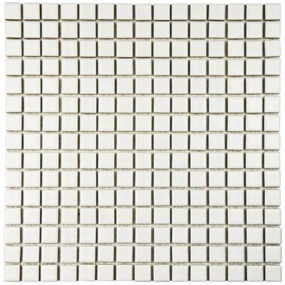 Morgan 0.75 x 0.75 Porcelain Mosaic Tile in White