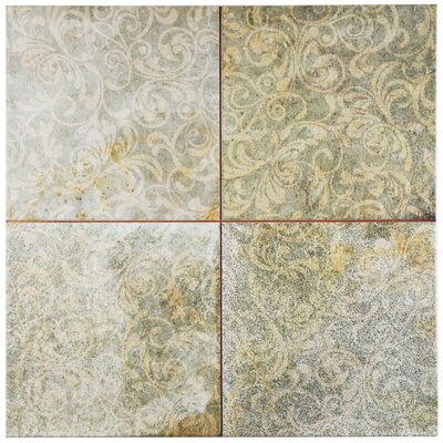 Royalty 17.75 x 17.75 Ceramic Field Tile in Beige/Blue/Patina