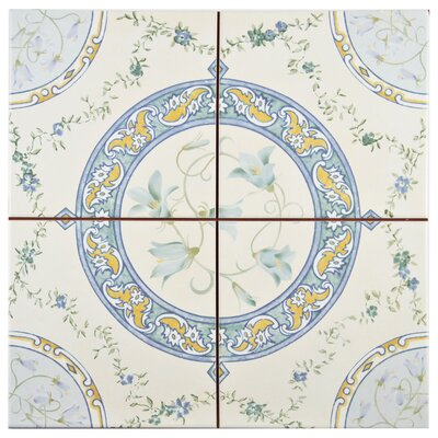 Tudor 13 x 13 Ceramic Field Tile in Matte Ivory