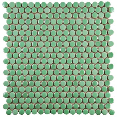 Tucana 0.59 x 0.59 Porcelain Mosaic Tile in Green