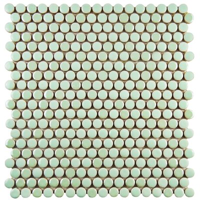 Tucana 0.59 x 0.59 Porcelain Mosaic Tile in Mint