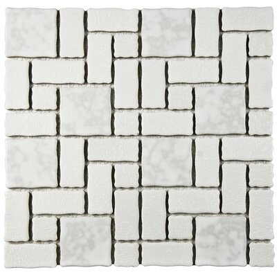 Pallas Random Sized 11.75 x 11.75 Porcelain Mosaic Tile in White
