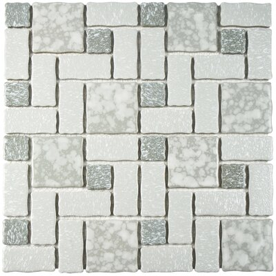 Pallas Random Sized 11.75 x 11.75 Porcelain Mosaic Tile in Gray