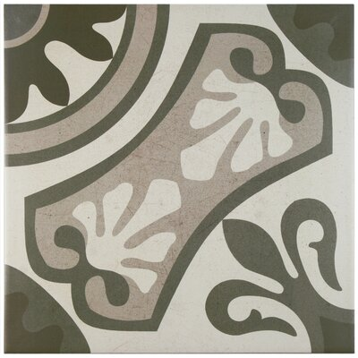 Serdi 13 x 13 Ceramic Field Tile in Beige/Green
