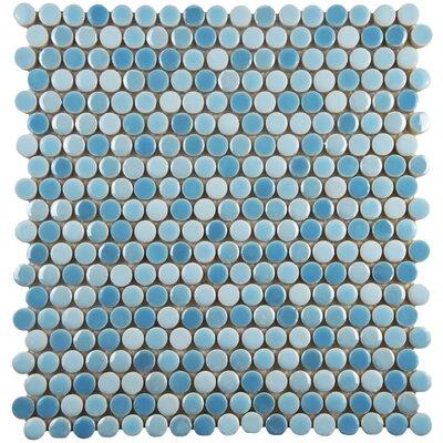 Tucana 0.59 x 0.59 Porcelain Mosaic Tile in Oceano