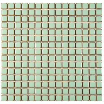 Morgan 0.75 x 0.75 Porcelain Mosaic Tile in Light Green