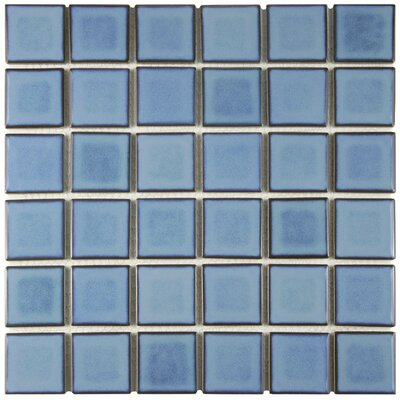 Arthur 2 x 2 Porcelain Mosaic Tile in Blue